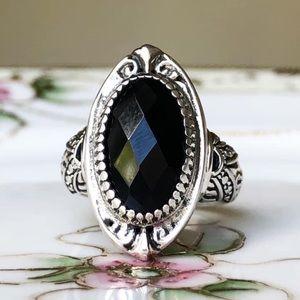Jewelry - Handmade Bali sterling silver Onyx ring